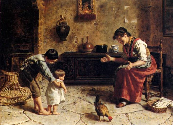 L'enfant est en fait dans les bras d'un maître intérieur qui le guide dans ses apprentissages, et lui fait suivre un programme méticuleusement orchestré pour seconstruire.