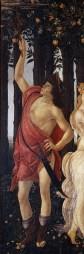 Mercure est le guide et l'escorte des Grâces. Il représente l'Esprit.