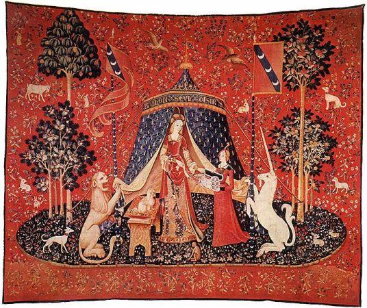 La Dame à Licorne nous guide pour éduquer nos cinq sens et les élever au rang d'une autre perception du Réel.