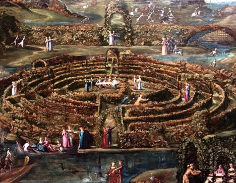 Dans ses tableaux, Tintoret utilise la spirale, qui lui permet d'organiser son tableau selon un mouvement rotatif, giratoire