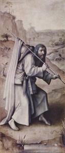 Le pèlerin est celui qui avance en s'élevant, avec la pratique des vertus comme guide et bâton de pèlerin