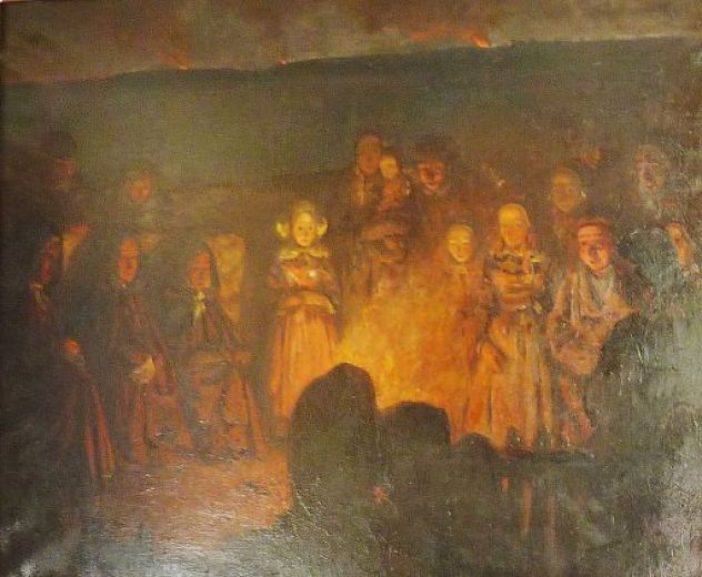 Et le soir, tout le monde avait pris rendez-vous pour assister aux feux de la Saint-Jean
