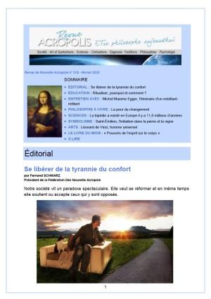 Revue Acropolis n°315