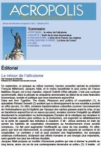 Première de couverture de la Revue Acropolis n°245