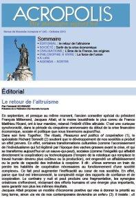 Revue Acropolis n°245