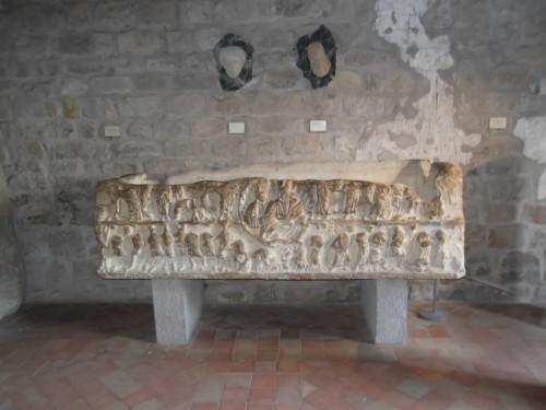 Fig 1 : Sarcophage paléochrétien (Ve siècle – salle antique)