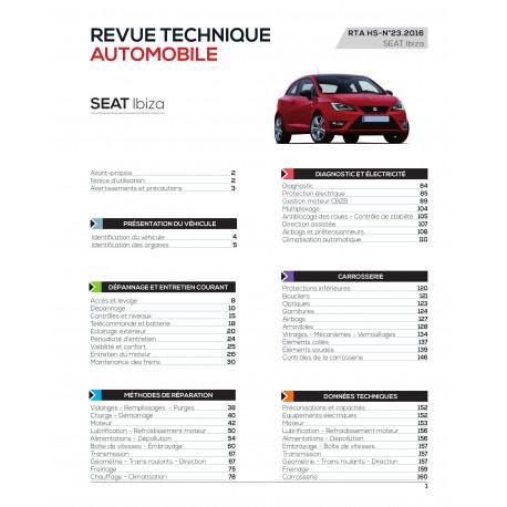 RTA SEAT IBIZA II phase 3 Hayon 3 portes (09/1999 > 03/2002)