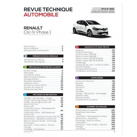 RTA RENAULT CLIO I phase 2 Hayon 3 portes (03/1994 > 03/1996)