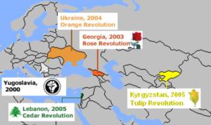 Les pays touchés par les « révolutions colorées » des années 2000 n'avaient pas été choisis par hasard.