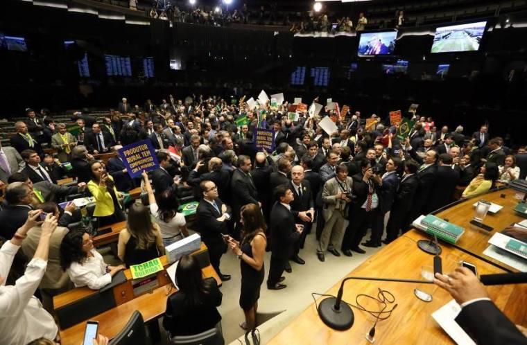 Chambre des députés à Brasilia.