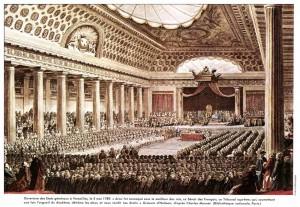 Réunion des Etats Généraux à Versailles, Salle des Menus-Plaisirs le 5 mai 1789