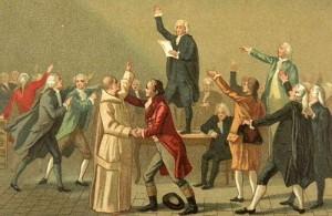Le 20 juin 1789, les membres du tiers-état prêtèrent serment : jamais ils ne se sépareraient avoir d'avoir donné à la France une constitution