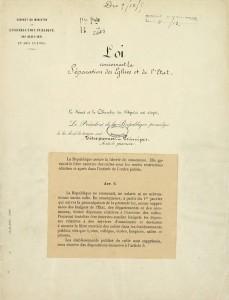 Loi du 9 décembre 1905 relative à la séparation des Églises et de l'État