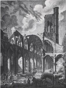 Démolition de l'église Saint André des Arts, Musée Carnavalet