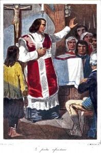 Illustration d'un prêtre réfractaire