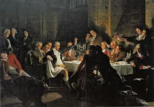 Dernier banquet des Girondins avant leur arrestation (mai-juin 1793)