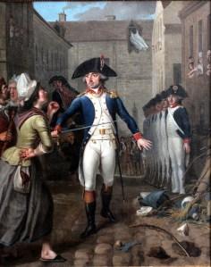 Garde national protégeant une cargaison de sucre pendant les émeutes parisiennes de janvier 1791, (musée de la Révolution française). Photograph by Rama, Wikimedia Commons, Cc-by-sa-2.0-fr
