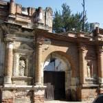 Façade of Church of San Sebastián reveals brick structure