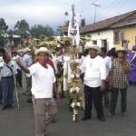 Indigenous cofradía procession on Holy Thursday in Izalco, 2009 by Lena Johannessen