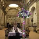 Wedding banquet inside Capuchinas ruins