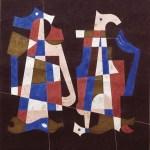 """""""Proyecto para los murales del Crédito Hipotecario Nacional"""" Mixta sobre papel, 40 x 34 cm, 1963"""