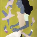 """Boceto para el Retrato de Lily"" témpera sobre papel, 32 x 24 cm, 1950"