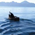 Pescador en amanecer (Lake Atitlán) —Rafael Rivera Neutze