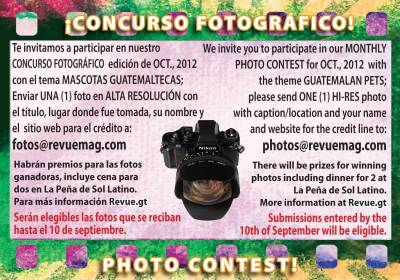 REVUE's October 2012 Photo Contest: Guatemalan Pets