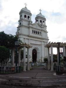 Retalhuleu's central park boasts a beautiful church