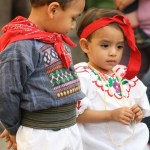 Children dressed in typical clothing for the Feast of Our Lady of Guadalupe in Antigua Guatemala (photo by Luis Toribio)