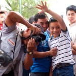 Taking photos for the Feast of Our Lady of Guadalupe in Antigua Guatemala (photo by Rudy Giron)