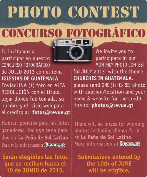 REVUE's July 2013 Photo Contest: Churches in Guatemala