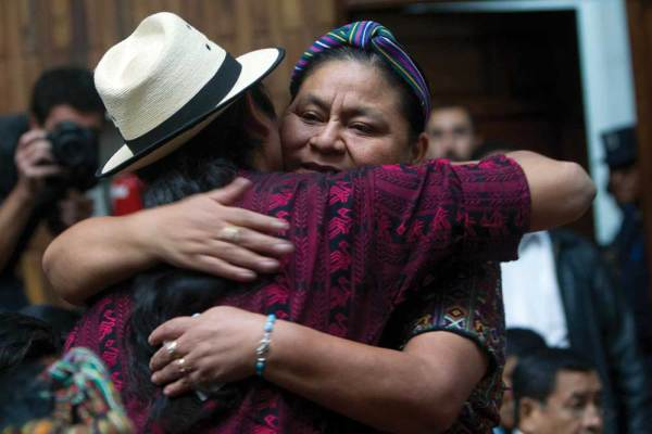 Rigoberta Menchú, Changing  the World  (photo courtesy of Moisés Castillo)