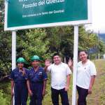 Jacinto Sis (forest guard), Pablo Caal (forest guard), Anibal García (administration), Lidia Noemí Maldonado (waitress)