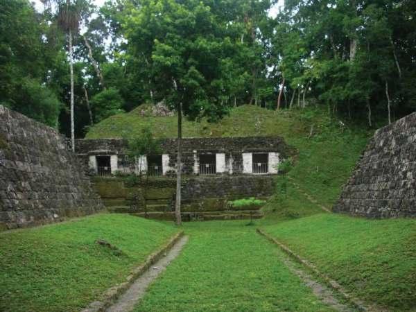 Ancient Mayan Ball Court at Yaxhá