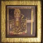 Ancient Greek goddess Pallas Athena—print of Gustav Klimt original, gold-enhanced by Thompson