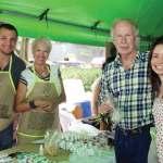 Guatemala City Mayor Alvaro Arzú (third from left) learns of the benefits of macadamia