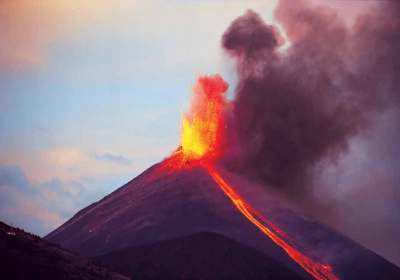 Pacaya looked like an immense Roman candle as the lava shot more than one kilometer into the firmament and a deep, ultra-low frequency roar emanated from the trembling ground below our feet.