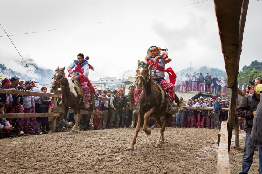 """""""Carrera de caballos"""" Todos Los Santos Cuchumatán, by Ismael Suruy Mendizabal Prize: Q50"""