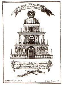 Túmulo D. Matías de Gálvez (1785) (V.M.Díaz, Las Bellas Artes)