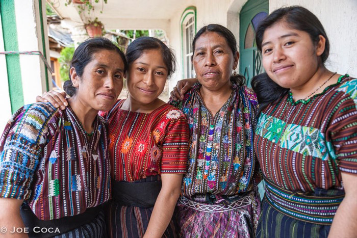 Micaela Churunul mother and sisters.