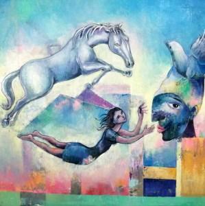 """""""A Salto de Mata"""" by Juan Francisco Yoc @ La Antigua Galeria de Arte"""