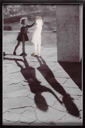 Two girls, one clipped, 2005, tirage numérique jet d'encre