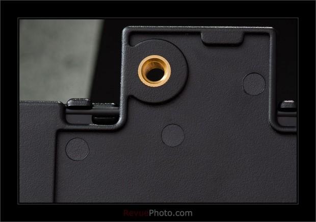 Le pas de vis, idéal pour placer le Spyder Lenscal sur trépied