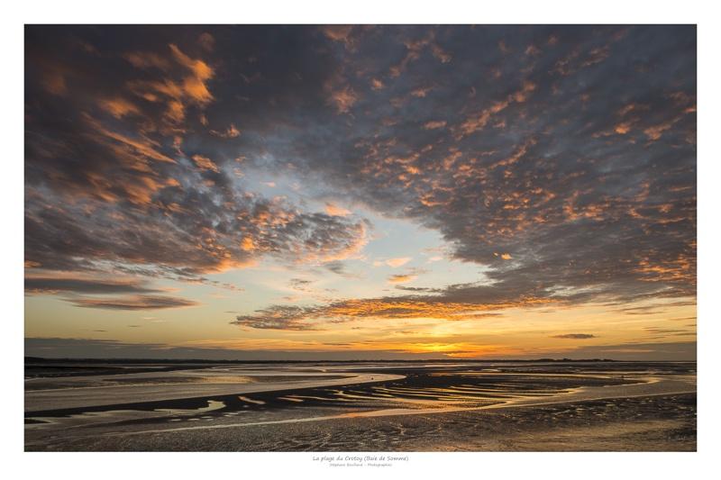Crépuscule sur la plage du Crotoy