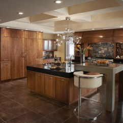 Hickory Shaker Style Kitchen Cabinets Island Discount Stain Grade Cabinetry | Revuu