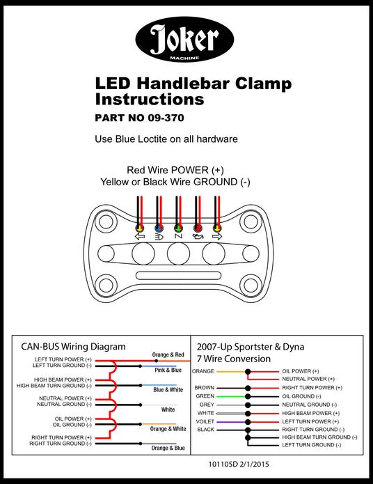 Joker Machine Riser Handlebar Top Clamp LED Indicator