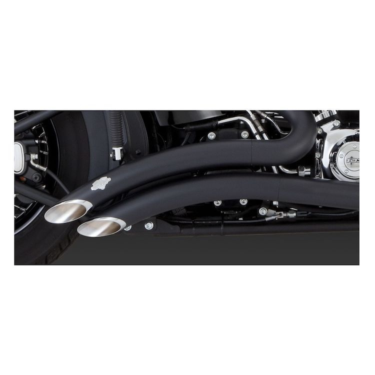 vance hines big radius exhaust for harley softail 1986 2017