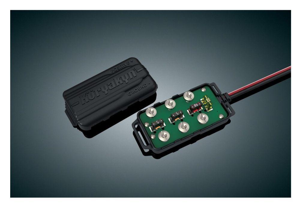 medium resolution of kuryakyn universal accessory fused terminal block 10 6 82 off revzilla