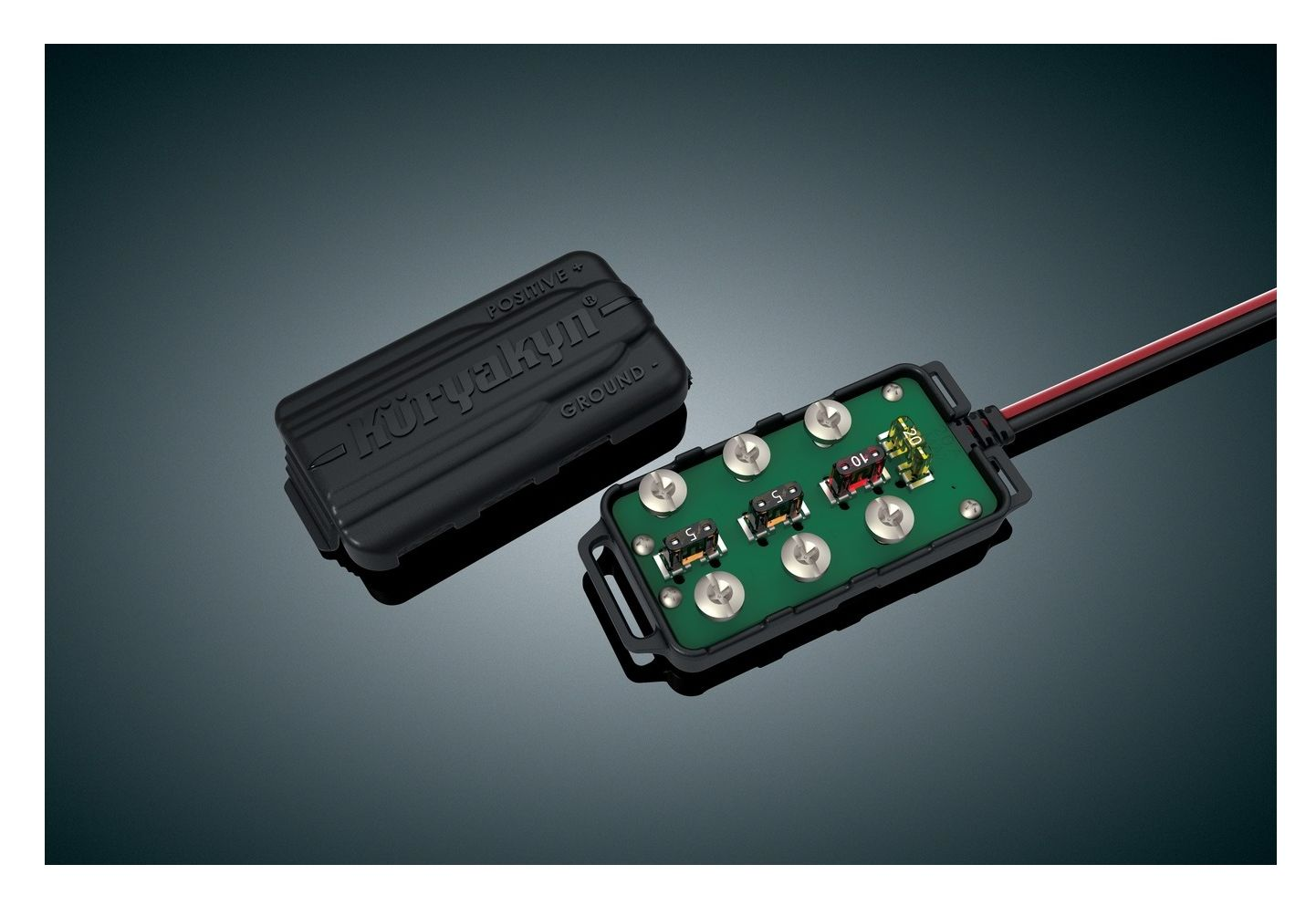 hight resolution of kuryakyn universal accessory fused terminal block 10 6 82 off revzilla